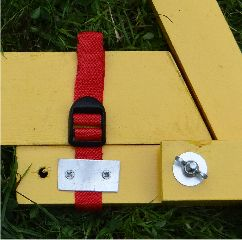 Image of Foot-locator strap in use.
