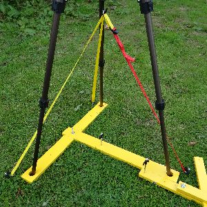 Image of tripod Tie-down strap in use.